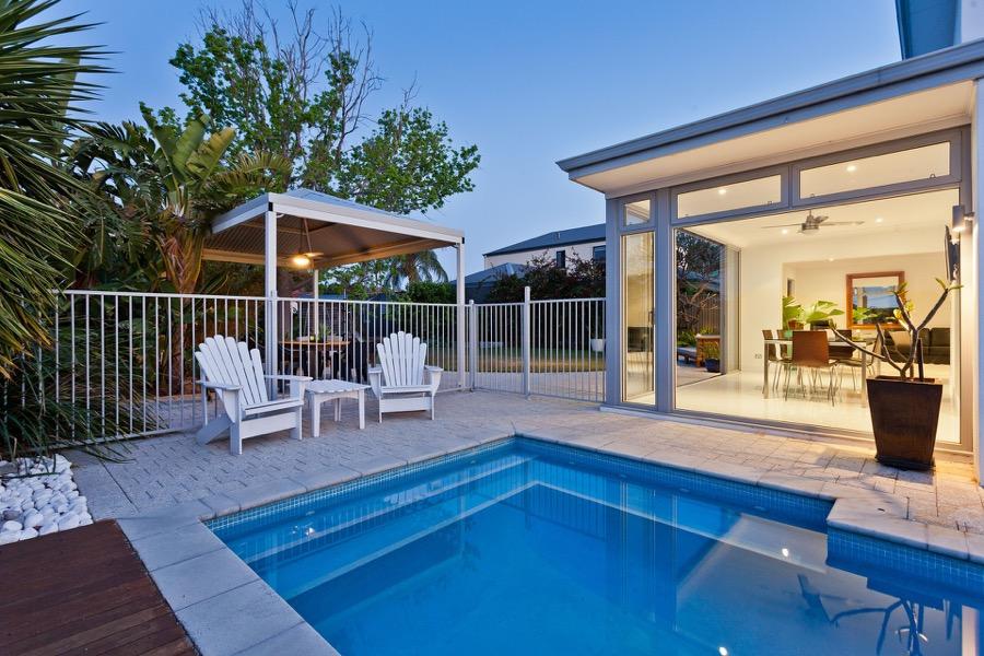 modern Spanish villa with pool