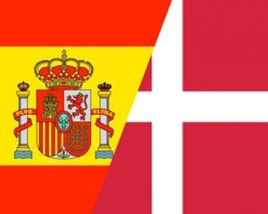 spanish and danish flag together
