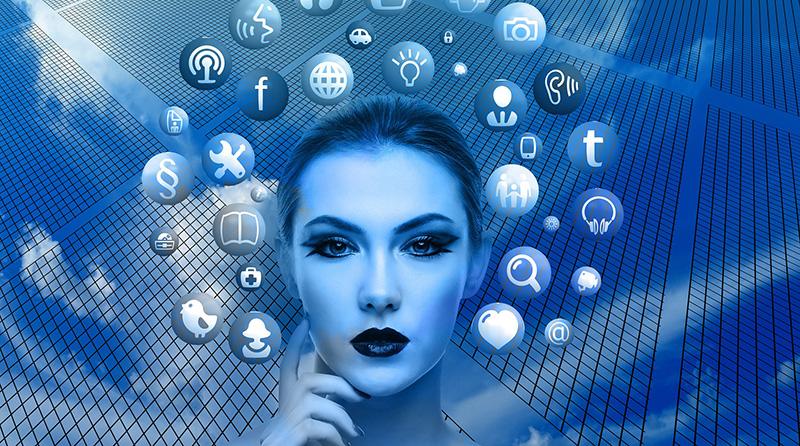 woman's face social media profile