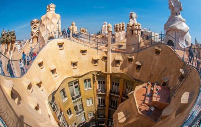 gaudi building barcelona spain
